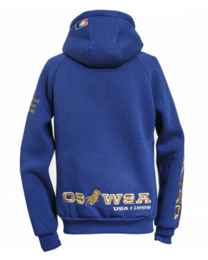 "OSWSA MENS HOODED SWEAT JACKET ""LOGAN"" royal blue_Lovelybull"