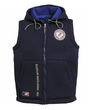 UNISEX HOODED THERMO VEST _The Legend Lives On_ navy_royal191801 - OS-WESTERN SPORTS APPAREL.lovelybull-westernstore-westernshop