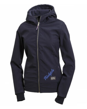 RANCHGIRLS HOODED TECHNO-SHELL JKT navy_silver_royal 195001 - OS-WESTERN SPORTS APPAREL.lovelybull-westernstore-westernshop