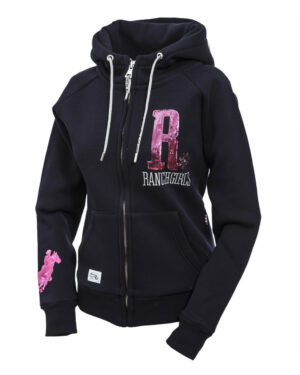 RANCHGIRLS HOODED JKT _SHINY_ navy_pink - OS-WESTERN SPORTS APPAREL.lovelybull-westernstore-onlineshop-österreich-