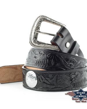 WG-04 Westerngürtel aus robustem Rindsleder mit austauschbarer Schnalle. Material: 100% Leder Größen: 30 | 32 | 34 | 36 | 38 | 40 | 42 | 44 | 46 | 48